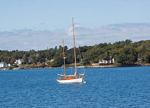 Sailboat in Boothbay Harbor by Kristen Mohr