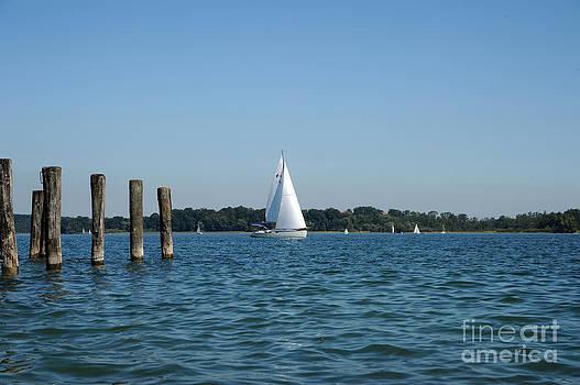 sailboat on Lake Chiemsee by Angela Kail
