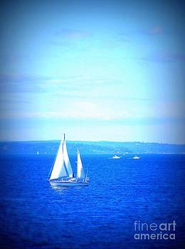 Vicki Maheu - Sailboat on Puget Sound