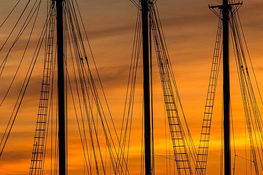 Sailboat Sunrise by Steven Bateson