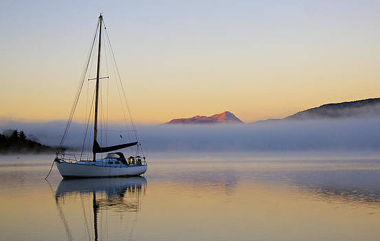 Venetia Featherstone-Witty - Sailboat Sunrise Te Anau