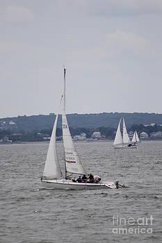 Sailboating The Ocean Harbor by Spirit Baker