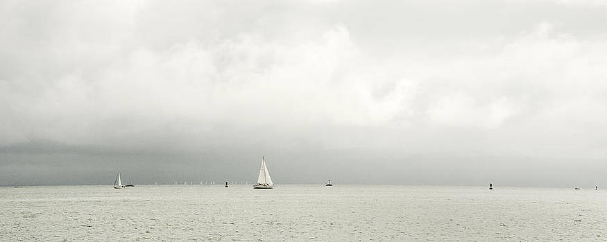 Sailboats and Clouds by James Blackwell JR