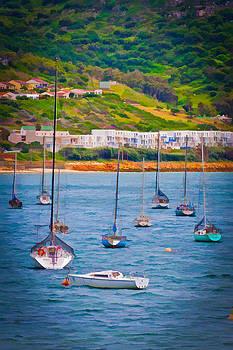 Sailboats at Simons Town by Cliff C Morris Jr