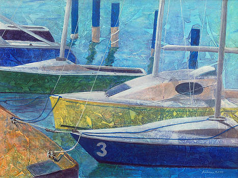 Sailboats in Harbor  by Arlissa Vaughn