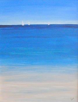Sailboats on the Horizon by Nancy Nuce