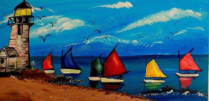 Sailboats by Rebecca West
