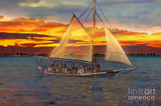 Sailing At Sunset by Jeff Breiman