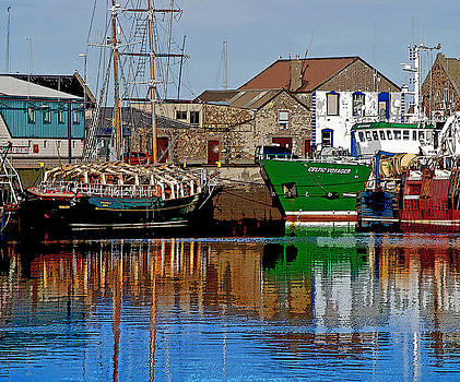 Sailing Boat in Howth Harbour by Frank Gaffney