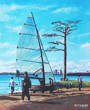 Martin Davey - Sailing boat preparation at Weston Shore Southampton