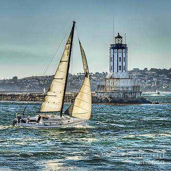 Sailing by the Lighthouse by Nick Carlson