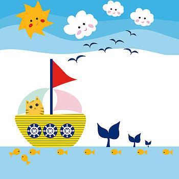 Sailing Cat by May Leong