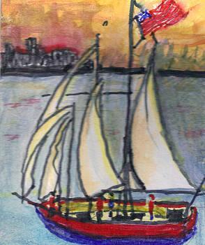 Sailing into NY by Debbie Wassmann