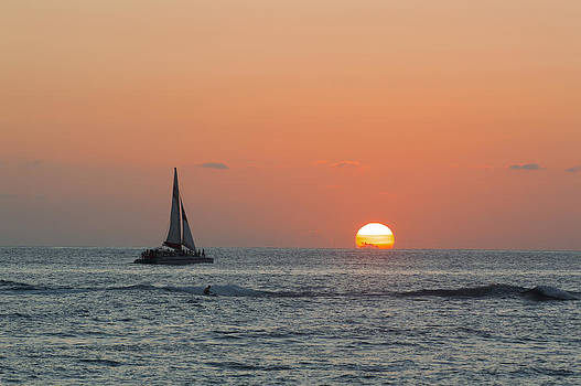 Sailing into the Sunset by Alina  Oswald