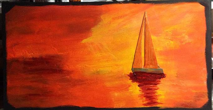 Sailing into the Sunset by Pat Butera
