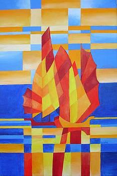 Tracey Harrington-Simpson - Sailing On The Seven Seas So Blue