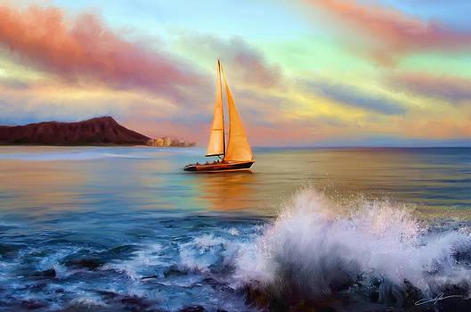 Dale Jackson - Sailing Past Waikiki