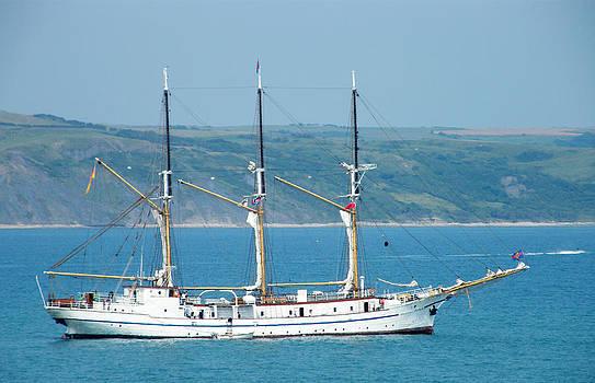 Sailing Ship - Weymouth Bay by Moya Moon