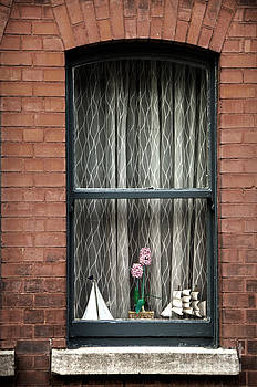 RicardMN Photography - Sailing ships and plant on the window with net courtain