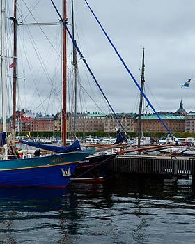 sailing ships front of Strandvagen by Evgeny Lutsko