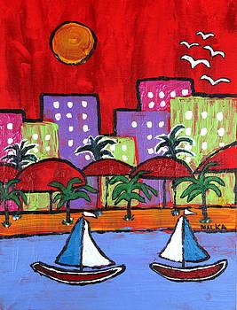Sailing South Beach by Marlene MALKA Harris