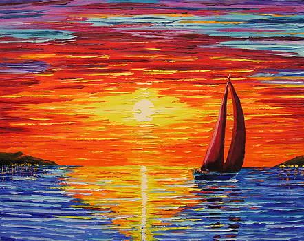 Sailing sunset by Pawel Przemyslaw Pyrka