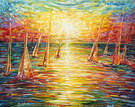 Pete Caswell - Sailing Sunset