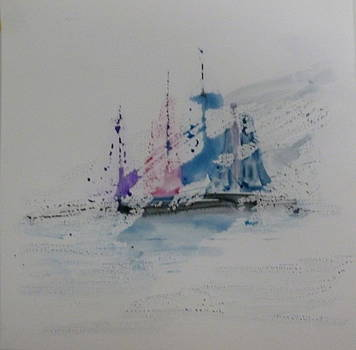 Sailing Thru the Fog by Nancy Nuce