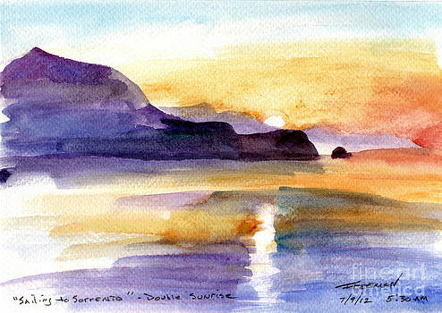 Valerie Freeman - sailing to Sorrento double sunrise