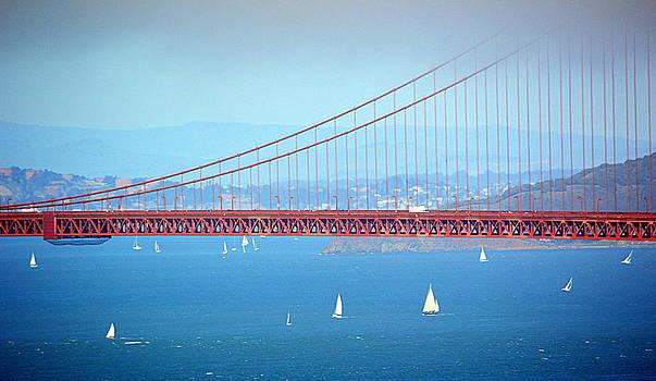 Sailing Under the Golden Gate by AJ  Schibig