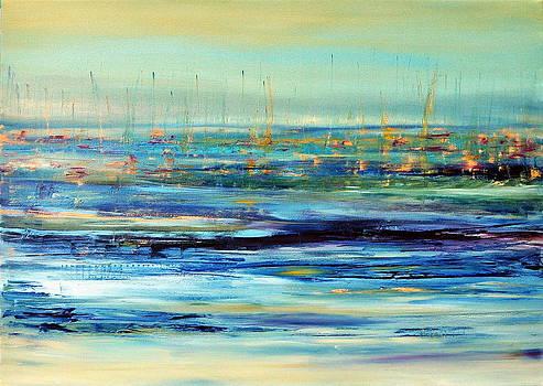 Sails floating on ice by Beata Belanszky-Demko