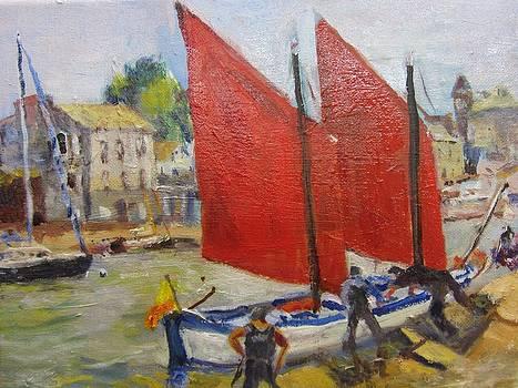 Sails on the Seine by Albert Fendig