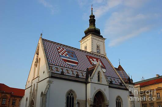 Saint Mark's Church in Zagreb Croatia by Kiril Stanchev