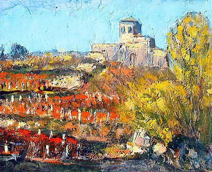 Saint Romain le Puy CHURCH FRANCE LOIRE in autumn by Chevassus-agnes Jean-pierre