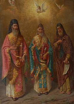 SAINTS.Gerasimos.Spyridon.and Dyonisios. by George Katechis
