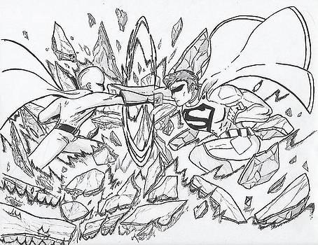 Saitama vs. Superman by Preston Watkins