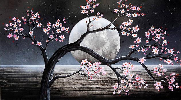 Sakura de noche by Angel Ortiz