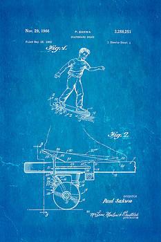 Ian Monk - Sakwa Skateboard Brake Patent Art 1966 Blueprint