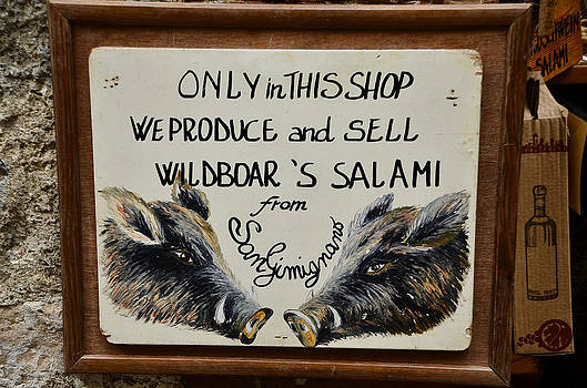 Wild boar's salami sign by Dany Lison