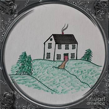 Barbara Griffin - Salt Box Style House - Porthole Vignette
