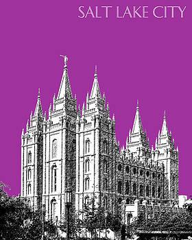 DB Artist - Salt Lake City Skyline Mormon Temple - Plum
