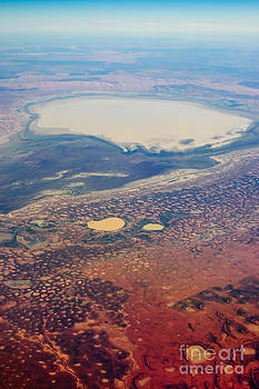 David Hill - Salt lake in the Channel Country - Central Australian desert