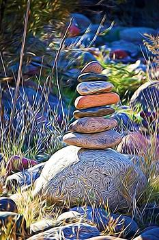 Salt River Rock Cairn by Andrea King