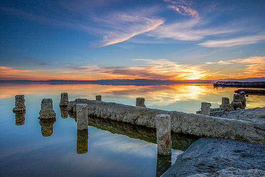 Salton Sea Mirror by Robert  Aycock