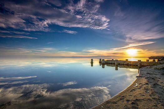 Salton Sea Sunset at Bombay Beach by Robert  Aycock