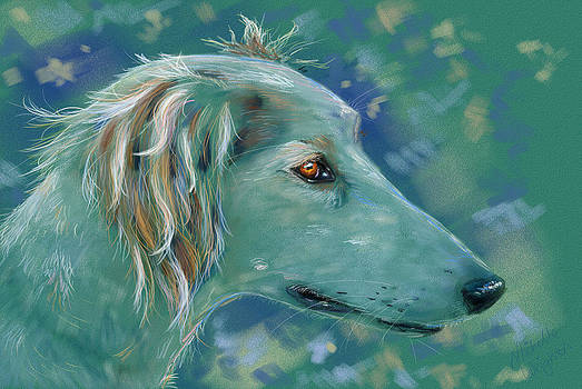 Michelle Wrighton - Saluki Dog Painting