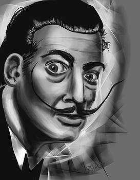 Salvador Dali Portrait by Rich Potter