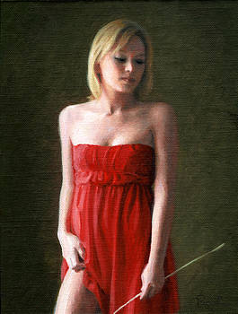 Samantha in Red by Charles Pompilius