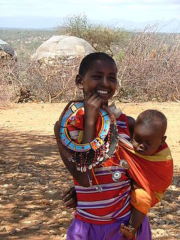 Samburu Villlage  by Judith Sweeney