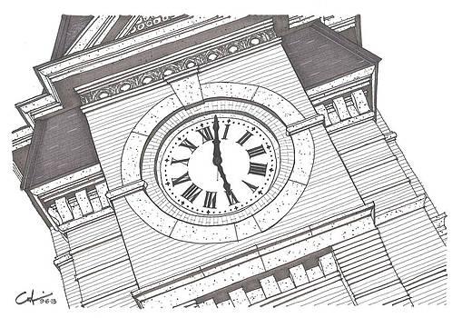 Samford Hall Detail by Calvin Durham